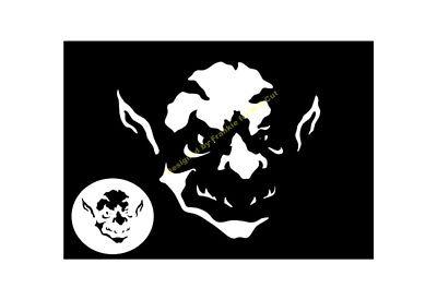 HALLOWEEN STENCIL Evil Goblin A4/A3/A2/A1/A0 350 micron HALL093 - Evil Halloween Stencils