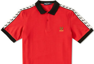 Fred Perry Belgium Tape Polo Shirt - size Small