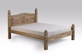 New Solid Corona Mexican pine 4ft 6in double bed £159 IN STOCK TODAY