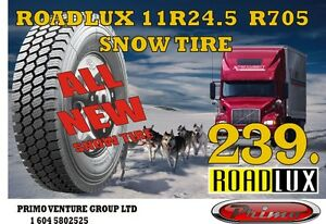 ROADLUX 11R24.5 SNOW TIRE  ( ALL NEW) Edmonton Edmonton Area image 1
