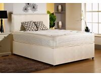 luxury king size bed and mattress memory foam or orthopaedic free faux leather headboard