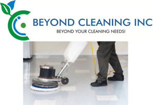 Commercial floor buffing, waxing, and stripping services