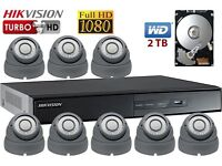 8 CCTV Cameras Full HD 1080P Clear Image Night Vision Installation and Free Setup for Remote Viewing