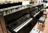 We often have 40 Yamaha Kawai Pianos in stock      www.musicm.ca