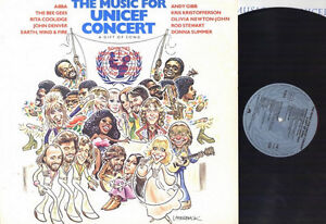 MUSIC For UNICEF CONCERT Vinyl LP 1979 ABBA, Andy Gibb, BeeGees Kitchener / Waterloo Kitchener Area image 1