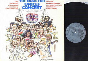 MUSIC For UNICEF CONCERT Vinyl LP 1979 ABBA, Andy Gibb, BeeGees