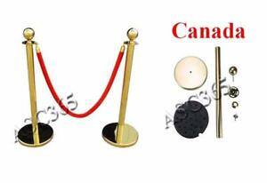 2 pcs Velvet Rope Stanchion Post Crowd Control Queue Line 170533