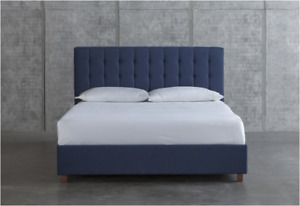 Tufted Upholstered Bed (Blue) - Double - $400
