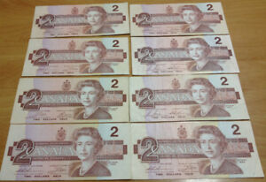 Canada $1 $2 bill