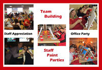 STAFF CHRISTMAS PAINT PARTY!
