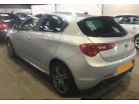 2014 WHITE ALFA ROMEO GIULIETTA 2.0 JTDM-2 150 EXCLUSIVE CAR FINANCE FR £33 PW