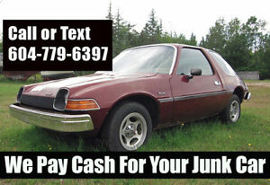 Scrap Car Removal - Fast Service - Top Dollars Paid