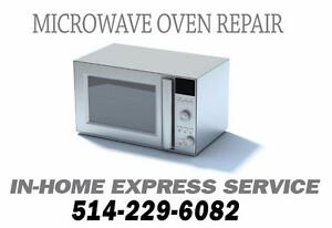 Microwave oven in-home service