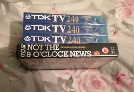 Tdk 240 x3 Blank vhs tapes sealed + Not the Nine o'clock News Vhs