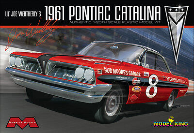 Model King Moebius Joe Weatherlys 1961 Pontiac Catalina Stock Car model kit 1/25