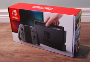 Nintendo Switch Console (Gray) (Brand New, Never Opened)