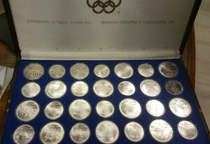 1976 Montreal Olympic RCM 28 Coins Sterling Silver Set