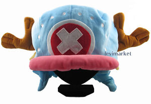 Funny Blue Plush Hat One Piece Kawaii Chopper Cap Collect Anime Costume Cosplay
