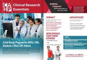 Clinical REASERCH ASSISTANT ESSENTAIL for IMGs,April 21