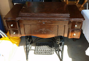 Antique sewing machine cabinet,