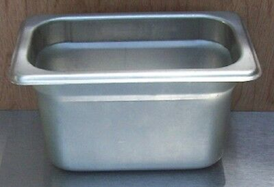 Restaurant Equipment Bar Supplies Ninth Size Stainless Steam Food Pan 4 Deep
