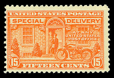 Scott E13 1925 15c Special Delivery Flat Plate Issue Mint Fine+ OG NH Cat $75