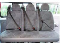 Van triple seats with seatbelts crew cab