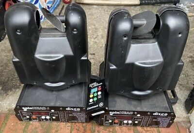 2x Disco Moving Head Lights With Controller