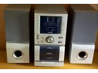 CD and Cassette stereo