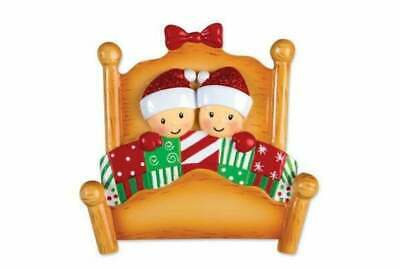 Bed Family Couple Personalized Christmas Ornament OR1469-2 ()