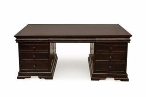 Custom Made Solid Wood Office Executive Desks - Solid Mahogany, Solid Maple or Cherry