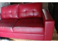 Red Sofa leather