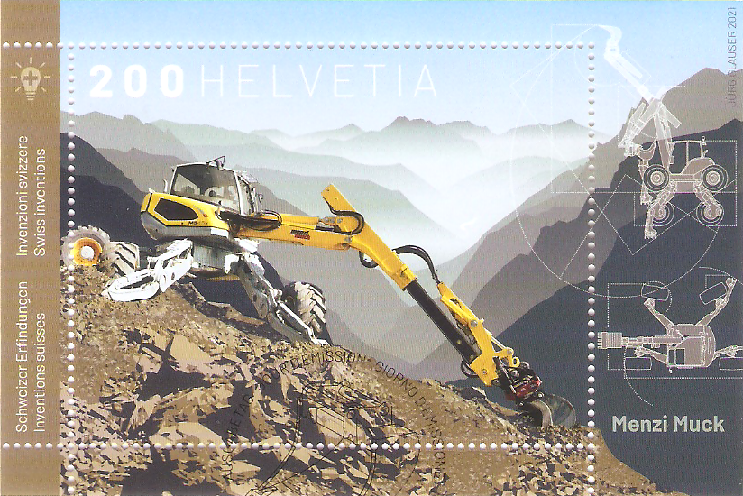 Schweiz Block 76 Erfindungen - Bergbagger - Menzi Muck in Nordrhein-Westfalen - Kamen