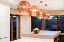 4x Copper Pendant Lights Fisher Weston Creek Preview