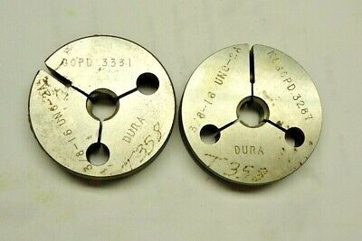 Dura 38 - 16 Unc 2a Thread Ring Gages Go - No Go