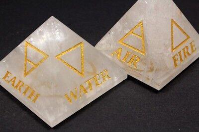 4 Elemente magische Akasha Pyramide XL graviert Edelsteine Bergkristall Energie