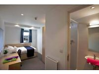 Student ensuite room on Campus Accommodation at Edinburgh College Free Broadband No utility bills