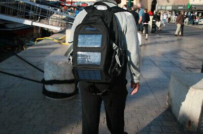Mochila cargador móvil bolsa solar energy 3 panel phone power charger backpack