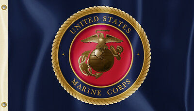 U.S. Marine Corps 3' x 5' Flag (Insignia) USMC Officially Licensed