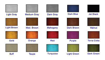Colored Natural Concrete Sealer X-3 stamped decorative in 20 colors 4 ounces