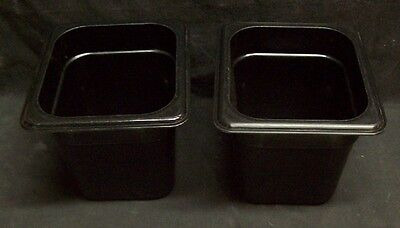 Restaurant Equipment Bar Supplies 2 Cambro Black 16 Food Pan