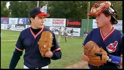"""The real catchers mitt  TOM BERENGER used in the movie """"MAJOR LEAGUE 2"""""""