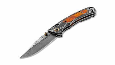 Benchmade Gold Class Mini Crooked River AXIS Lock Knife Damasteel 15085-201