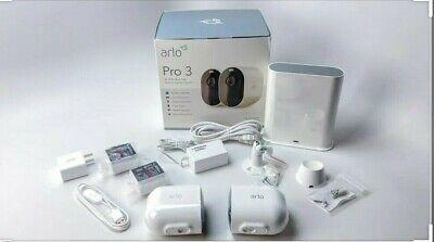 ARLO Pro 3 2K WiFi Security Camera System - 2 Cameras, White, Brand New