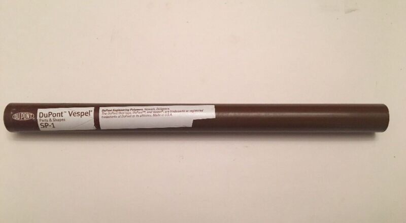 "DUPONT VESPEL POLYIMIDE ROD SP-1 BROWN 1.00"" DIA X 5.30"" LENGTH UNFILLED POLYMER"