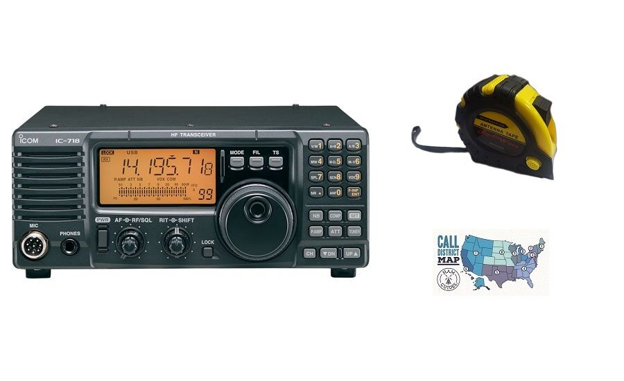 Details about Icom IC-718 Base radio, HF, 100W with FREE Radiowavz Antenna  Tape!
