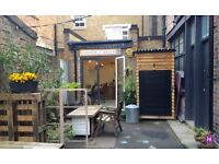 East London Creative Private Office Space / Desk Space in workshop yard in Bethnal Green / Hoxton