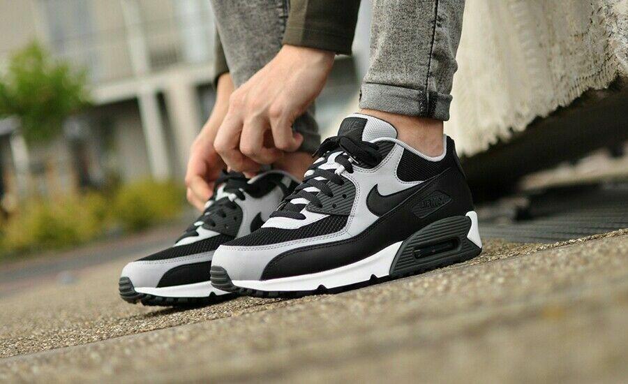 nike air max 90 vt mens running shoes black/white