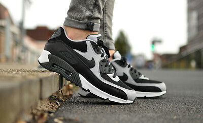 Nike Air Max 90 Essential Black Wolf Grey 537384-053 Running Shoes Men's NEW