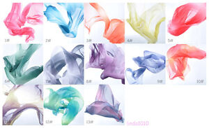 New-Belly-Dance-Costume-Gradient-Color-Silk-Shawl-Veil-250-120cm-13-colours